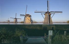 Nederland na de zeespiegelstijging - Kinderdijk